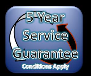 5 Year Service Guarantee