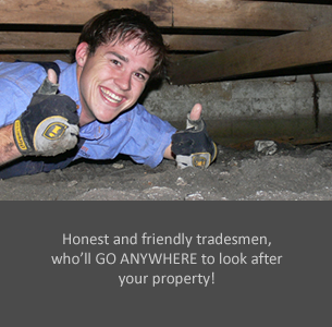 Honest and Friendly Tradesmen, who'll GO ANYWHERE to look after your property