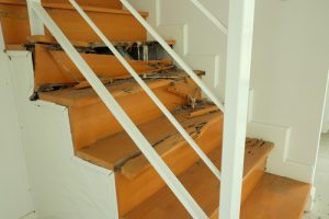 Wooden stairs eaten away by termites - The Termite Guys Brisbane, effective solutions