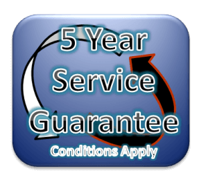 5 Year Service Guarantee