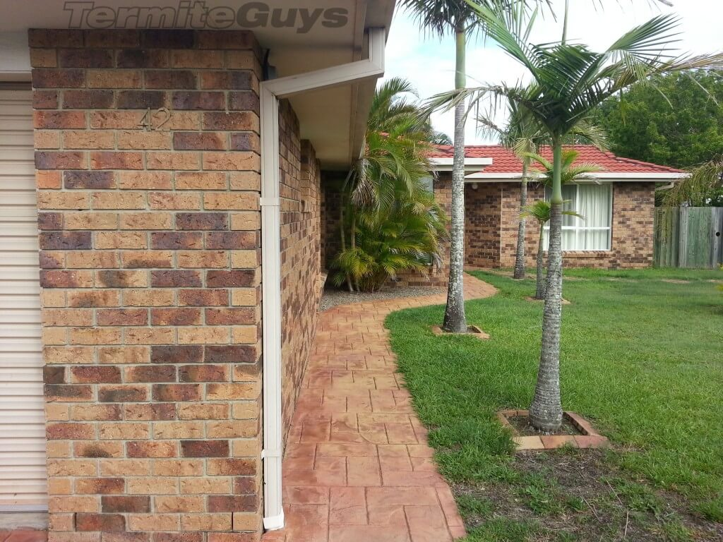 A Brick Veneer home with conducive conditions to termites