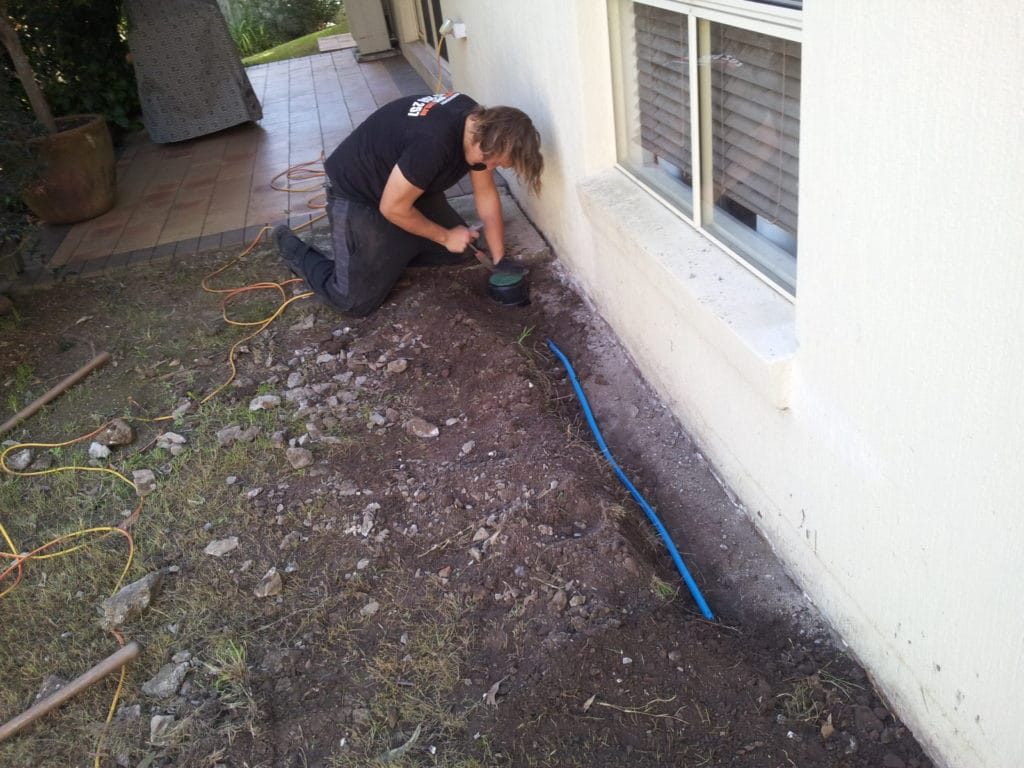 Termite Protection in Fig Tree Pocket - Reticulation system being installed